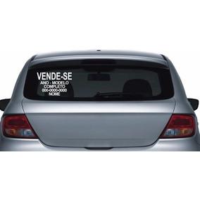 Placa De Adesivo Vende-se Carros