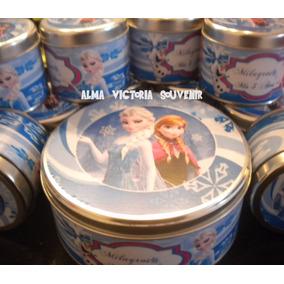 Souvenir Frozen Latas Personalizadas 7,5 X 8 Por 10 Unidades