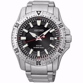 Relógio Seiko Masculino Quartz Solar V157aa/1 Scuba Divers