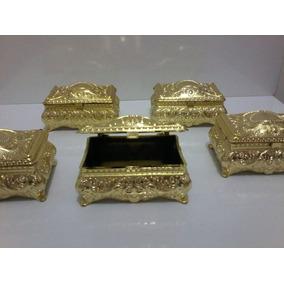Mini Lembrancinha Mini Baú Arca Acrilico Dourado Pct C/ 10