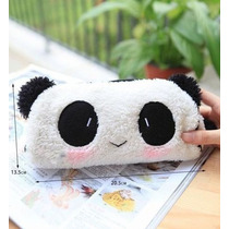 Estojo Escolar, Panda, Fofura, Pelúcia, Bolsa