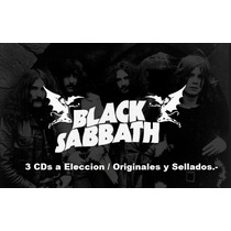 Lote 3 Cds A Eleccion - Black Sabbath - Nuevos / Originales.