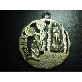 Medallla De Plata Religiosa De La Virgen De Guadalupe