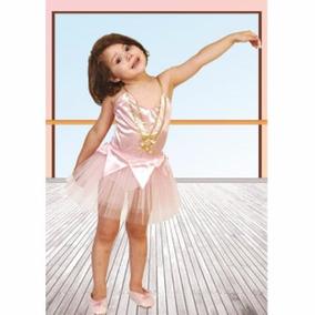 Disfraz De Bailarina Rosa Talle 3 5/7 Años