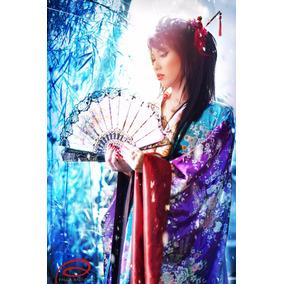 Kimono/quimono Japonês De Luxo/alta Costura!feminino.p.entg