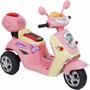 Lambreta Moto Elétrica Infantil Bivolt Rosa Promoção C/ Nf