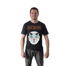 Camiseta Camisa Carnaval Mascara Chinesa Algodão