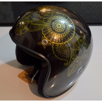 Casco Abierto Vintage Tipo Bell Old School Tradi Cafe Racer