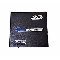 Divisor Hdmi Hdcp Splitter 1 Entrada 2 Saídas Full Hd 1x2 3d