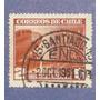 Estampilla Chile 2 $ Línea Aérea Nacional Lan Avión Antigua