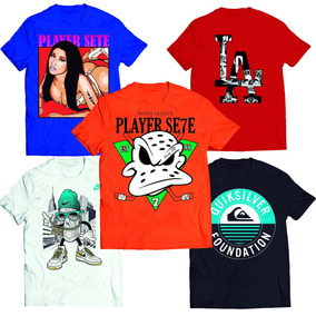 Kit 5 Camisetas Pro Skate Basquete Futebol Marcas