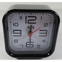Relógio Analógico Despertador Pequeno Com Som Alto