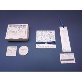 Paquete 50 Invitaciones De Boda, Caja Pastel, Oraciones Ymás