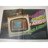 L 290/ Glm790 Propaganda Antiga Televisor Admiral Aquarela