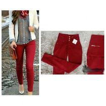 Calça Jeans Feminina Skinny Vermelha Ri19 58512