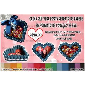 Caixa De Coração Com Foto Feita Em Eva Personalizada