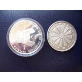 Lote Dos Monedas De Plata Nacionales N$ 50000 - 1000 Pesos