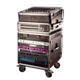 Audio Rack 10 Unid Gator Grc-base-10 Rackera C/ Ruedas