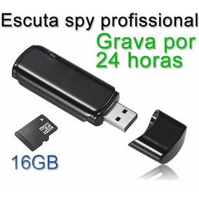 Pendrive Espião Gravador De Voz/vídeo Spy Bateria Longa 4hrs