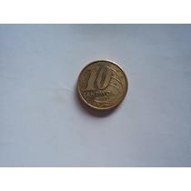 Moneda 10 Diez Centavos-brasil- 2004