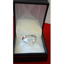 Anillo Medio Cintillo Con Diamantes