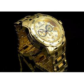 bcd619e7831 Relogio Invicta Pro Scuba 0064 ( Banhado A Ouro 18k ) - Relógios no ...