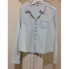 Blusa Camisa Mezclilla Charlotte Russe De La Mujer Denim