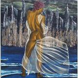 Cuadro Oleo Desnudo De Mujer Diosa Del Mar