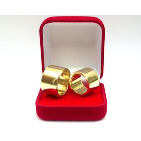 Alianças Cor De Ouro Feitas De Moedas Antigas Par 14mm