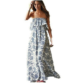 Vestido Largo Strapless Talla Xs