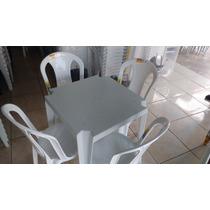 Conjunto De Mesas Goiania E Cadeiras Tramontina P/ 182 K