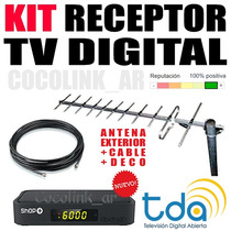 Kit Tda Larga Distancia Sintonizador + Ant Ext + 10 Mt Cable