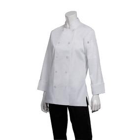 Chaqueta Chef Works Marbella Blanca Mujer