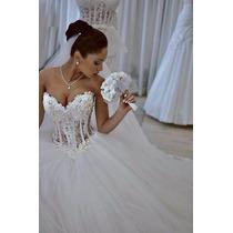Vestido De Noiva Logo Tomara Que Caia Tule Brilho Luxo