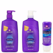 Kit Aussie Shamp E Condicionador 865ml 3minute Miracle 236ml