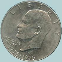 Monedas 1 Dollar Esienhower 1972,1974, 1776-1976 Mint D Usa