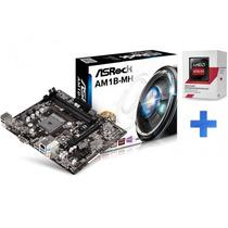 Kit Placa Mãe Asrock + Processador Amd 5150 Athlon Quad Core