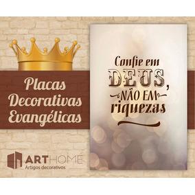 Placas Gospel Evangélicas Frases Versículos 20x13cm!