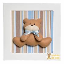 Quadrinho Decorado Enfeite Quarto Bebê Infantil Urso Ursinho