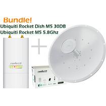 Antena Ubiquiti Rocket Dish M5 5ghz 30dbi + Rocket M5