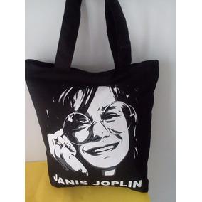 Bolsa De Tecido ( Tipo Sacola ) Janis Joplin
