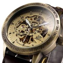 Alps Clásico Hombres Lujo Esqueleto Cuerda Automática Reloj