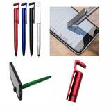1 Caneta Touch Universal C/ Suporte P/ Celular E Limpa Telas