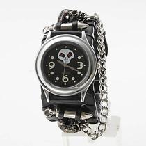 Relógio Bracelete De Couro Rock Ballads. Frete Grátis.