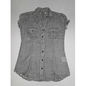 Camisa Feminina Xadrez Bicolor Tam P! Nova