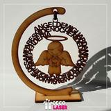 Angel De La Guarda 12x11, Recuerdos, Bautizo, Corte Laser