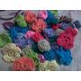 Flores Tejidas A Crochet X Unidades 6 Cm Imperdibles
