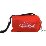 Windbed Fixxar Vermelho - Inflável 2 Lugares Camping Piscina