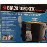 Arrocera Negra 16 Tazas Modelo Rc426b - Black&decker