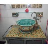 Bacha Ceramica Artesanal, Decoracion En Baños, Jaboneras